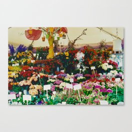 Flower shop in Munich #1 Canvas Print
