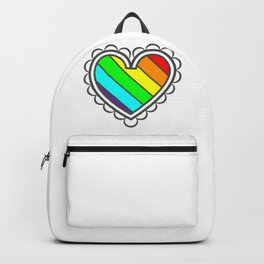 Heart in Fashion Modern Style Illustration Backpack