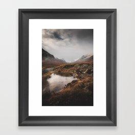 Frozen Mountains Framed Art Print