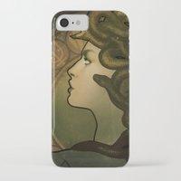 nouveau iPhone & iPod Cases featuring Medusa Nouveau by Megan Lara