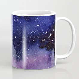 Watercolor Galaxy Nebula Pink Purple Sky Stars Coffee Mug