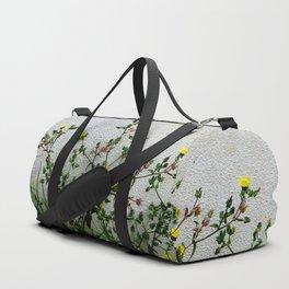 Minimal flora - yellow daisies wild flowers Duffle Bag