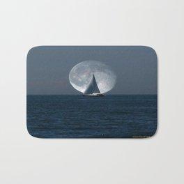 Full Moon Sailing Bath Mat