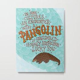 Pangolin Metal Print