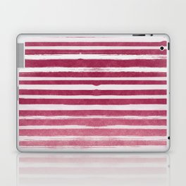 Ruby Foil Stripes Laptop & iPad Skin