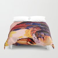turtle Duvet Covers featuring Turtle by Art By Carob