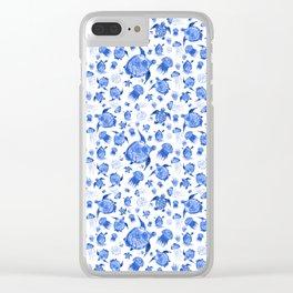 Ocean Life-Blue Palette Clear iPhone Case