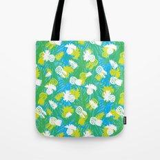 Tropical green pinapples Tote Bag