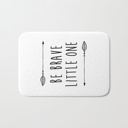"""Printable """"Be Brave"""" Inspirational Quote, Motivational Typography Print, Be Brave Nursery, Be Brave Bath Mat"""