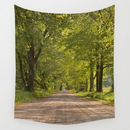 Wye Island Canopy Road Wall Tapestry