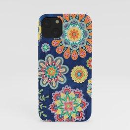 Folky Flora-blue iPhone Case
