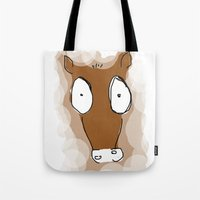 donkey Tote Bags featuring Donkey by Frances Roughton