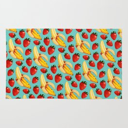 Strawberry Banana Pattern Rug