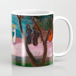 Best Friends Dancing at Sunset during Summer at the Beach landscape by Edward Munch Coffee Mug