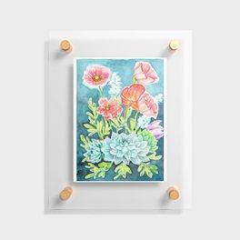 Botanical Aquarelle Floating Acrylic Print