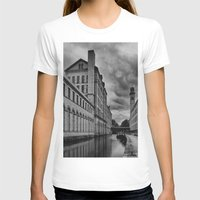 regina mills T-shirts featuring Yorkshire Mills by Sandra Cockayne Photography