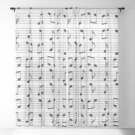 Music Sheer Curtain