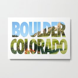 Boulder Colorado Metal Print