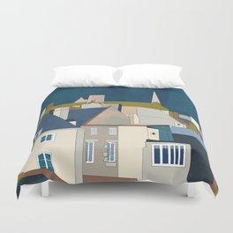 france houses abstract art Duvet Cover