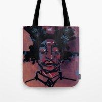 basquiat Tote Bags featuring basquiat by joseph arruda (zeruch)