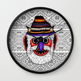 Bucovina Mask / Masca de Bucovina Wall Clock