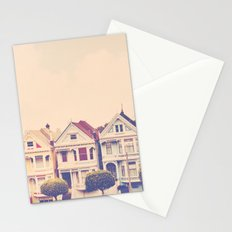 Darling do come see us! San Francisco Painted Ladies photograph Stationery Cards