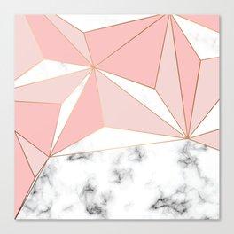 Marble & Geometry 042 Canvas Print