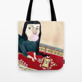 * CHICA MASCANDO CHICLE * Tote Bag