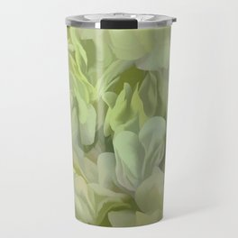 Soft Green Petal Ruffles Abstract Travel Mug