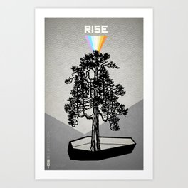 Poster Project   Rise Art Print