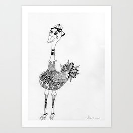 Ozzy the Ostracized Ostrich Art Print