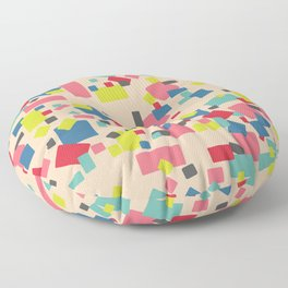 Colorful Party Confetti Surface Pattern Design Floor Pillow