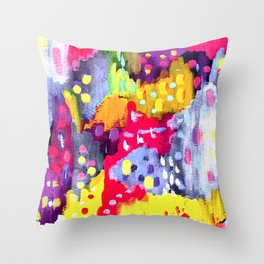 Painted Party Throw Pillow