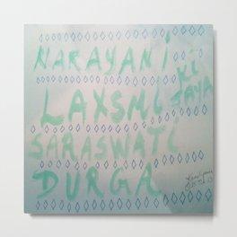 Aum Namo Devi Namaha Metal Print