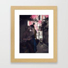 Stealing a moment Framed Art Print
