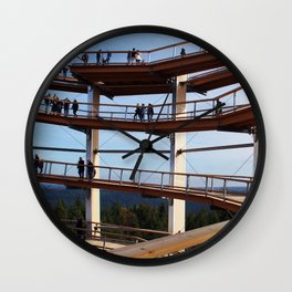Climb to the lookout tower of forest summit path Bad Wildbad Wall Clock