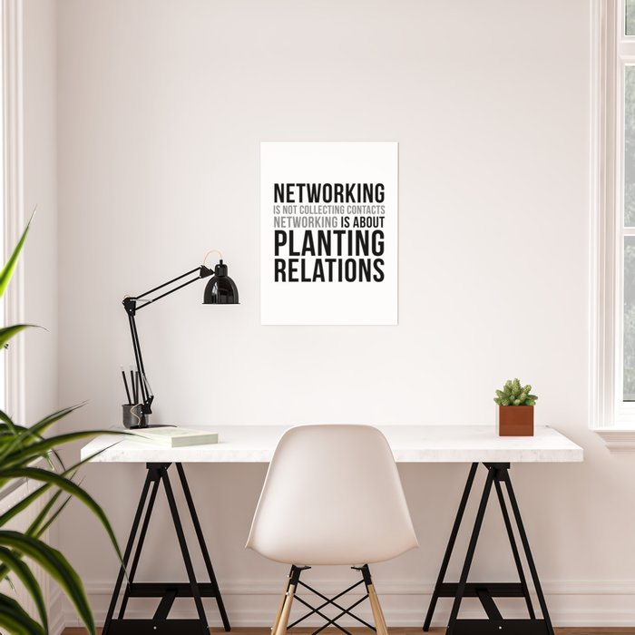 Networking Quotes Office Decor Office Wall Art Office Art Office Gifts Poster By Motiposter