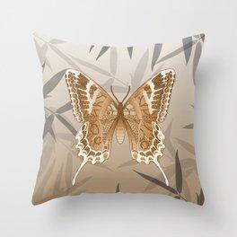 Beautiful Copper Butterfly Design Throw Pillow