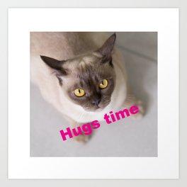 Hug Time with Charley Art Print