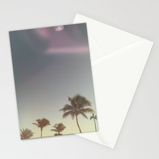 sun flare & palm trees Stationery Cards