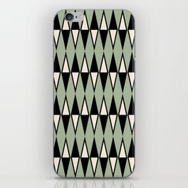 Mid Century Modern Diamond Pattern Sage Green 234 iPhone Skin