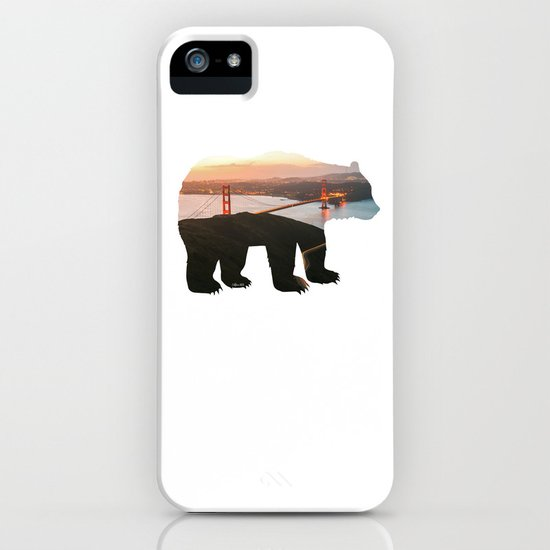 California Bear x Golden Gate Bridge - San Francisco, California iPhone Case