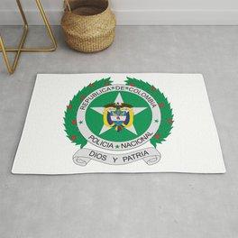 Emblem of National Colombian Police  Rug