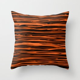 Harvest Orange Abstract Lines Throw Pillow