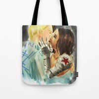 stucky Tote Bags featuring Stucky Home at last by Pruoviare