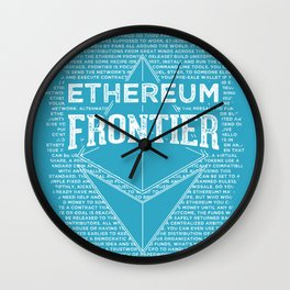 Ethereum Frontier (blue base) Wall Clock