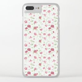 Sweet Carnations (light edition) Clear iPhone Case