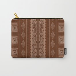 Brown Ethnic Tribal Style Pattern Carry-All Pouch