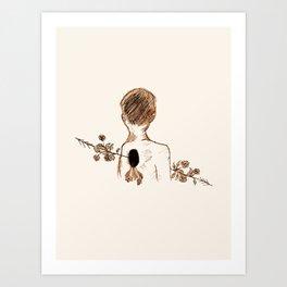 floral penetration. Art Print