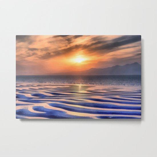 Sunset at high tide Metal Print
